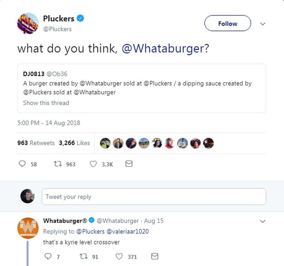 Texas is all about a (still-hypothetical) Pluckers-Whataburger ...