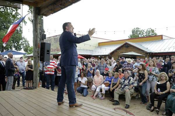 U.S. Senator Ted Cruz speaks during a campaign rally at Cypress Trail Hideout. 25610 Hempstead Rd., Saturday, Aug. 11, 2018, in Cypress.