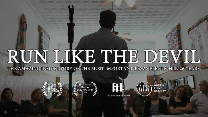 The poster for the documentary about the Ted Cruz-Beto O'Rourke race, 'Run Like the Devil'