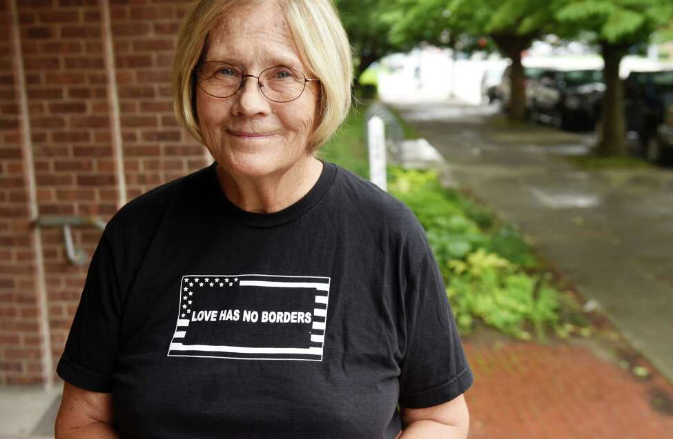 Retired military colonel Ann Wright stands for a photo outside the First Unitarian Church on Friday, Aug. 17, 2018, on Washington Ave. in Albany, N.Y. Ann is a guest speaker at the Kateri Peace conference on Saturday in Fonda. (Will Waldron/Times Union)