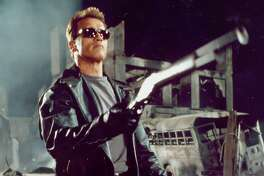 """Of course, many know Arnold Schwarzenegger as the title cyborg with a taste for black leather in the """"Terminator"""" movies."""