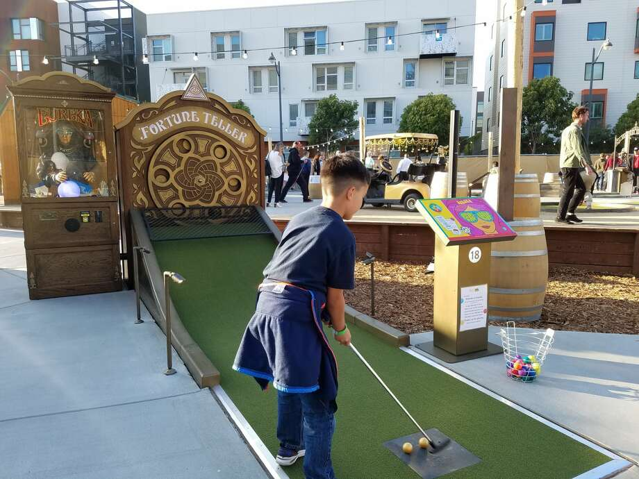 With a mini golf course, food trucks, a beer garden and tents for escaping the foggy chill, Parklab Gardens and Stagecoach Greens is a new gathering spot in San Francisco's Mission Bay neighborhood. Photo: Courtesy Parklab Gardens