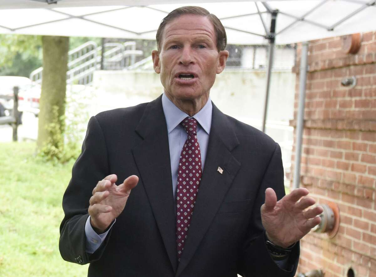 U.S.Sen. Richard Blumenthal was the target of a late-night tweet from President Trump on Thursday over his Vietnam War-era service with the Marine Corps Reserve.