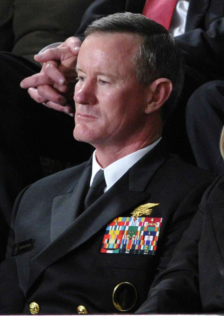 In this file photo taken on January 24, 2012, Admiral William McRaven, commander of the Joint Special Operations Command (JSOC), listens as President Barack Obama delivers his State of the Union address before a joint session of Congress on Capitol Hill in Washington, DC.
