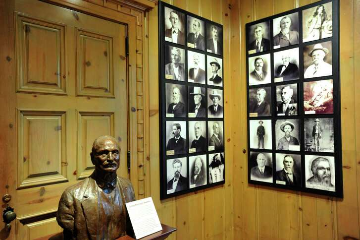 A bust of George W. Saunders, the original organizer of the Old Trail Drivers of Texas Assocation, is on display in the Trail Drivers of Texas room at the South Texas Heritage Center. May 9, 2012.