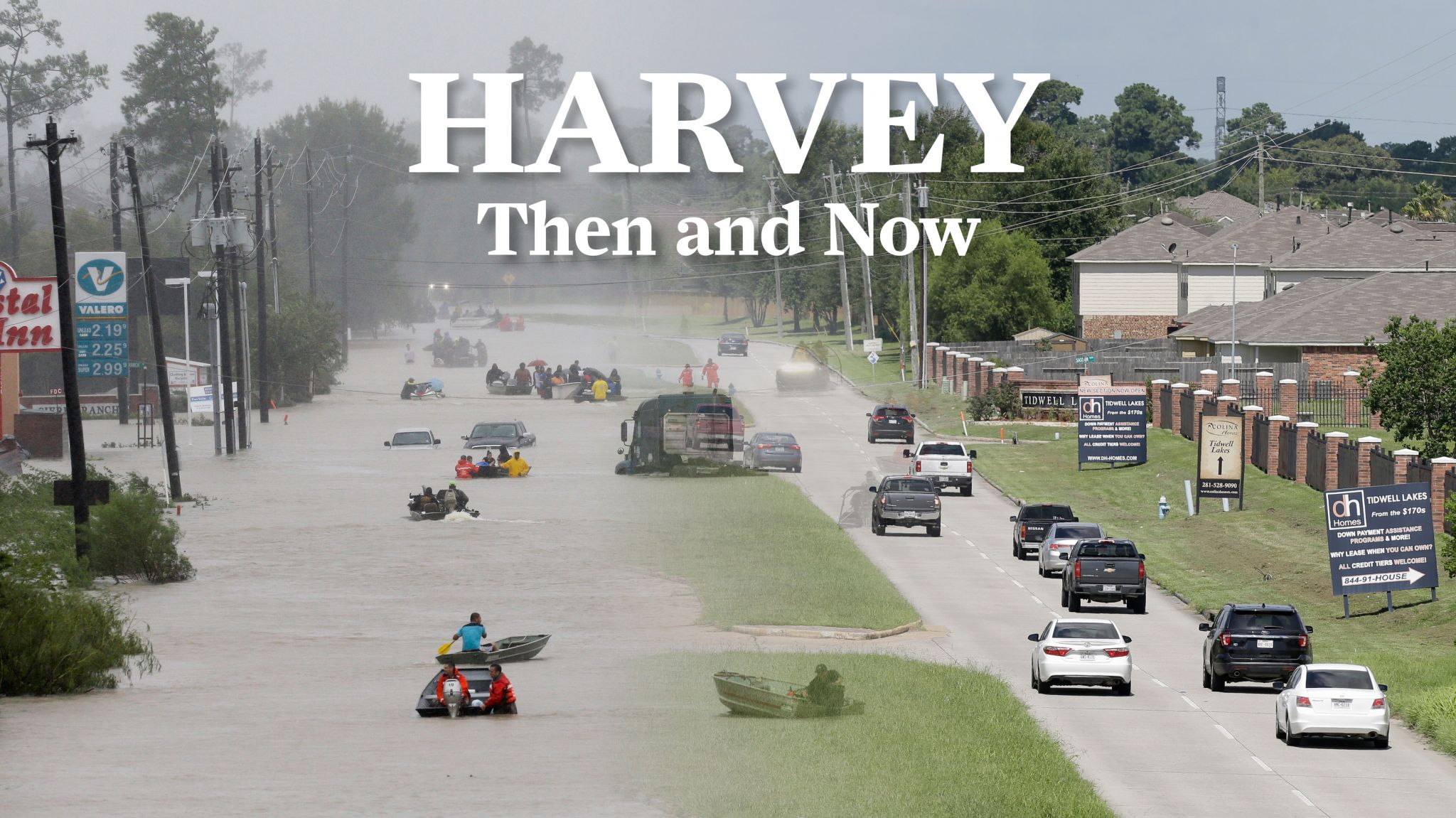Dramatic Then And Now Photos Show How Hurricane Harvey