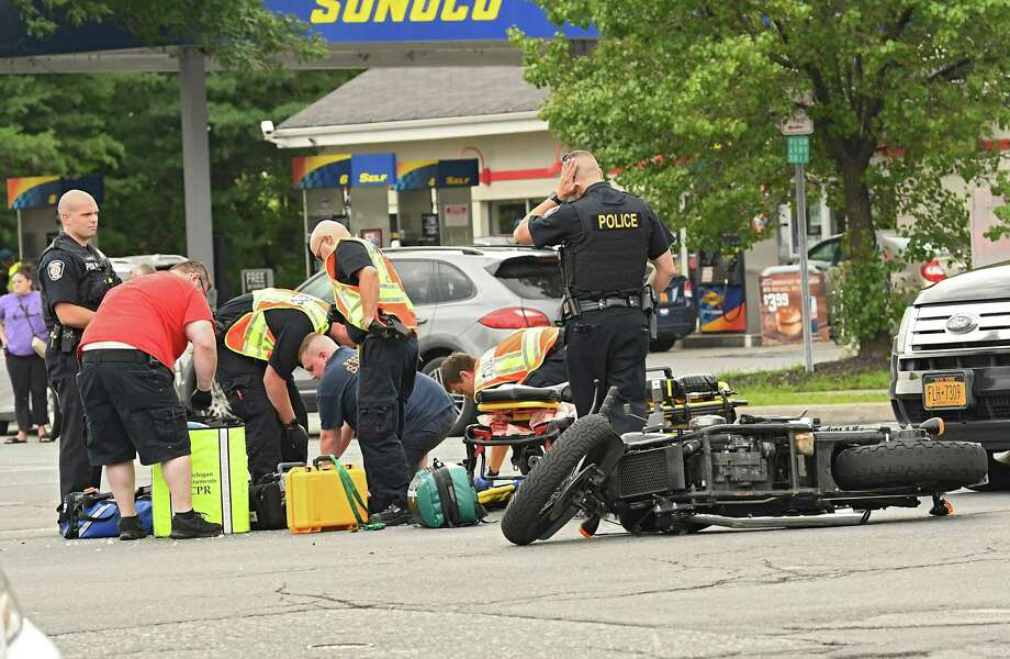 Motorcyclist dies after crash in Colonie - Times Union
