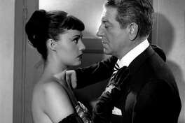 "Jeanne Moreau and Jean Gabin in ""Touchez Pas au Grisbi,"" to be shown at Pacific Film Archive."