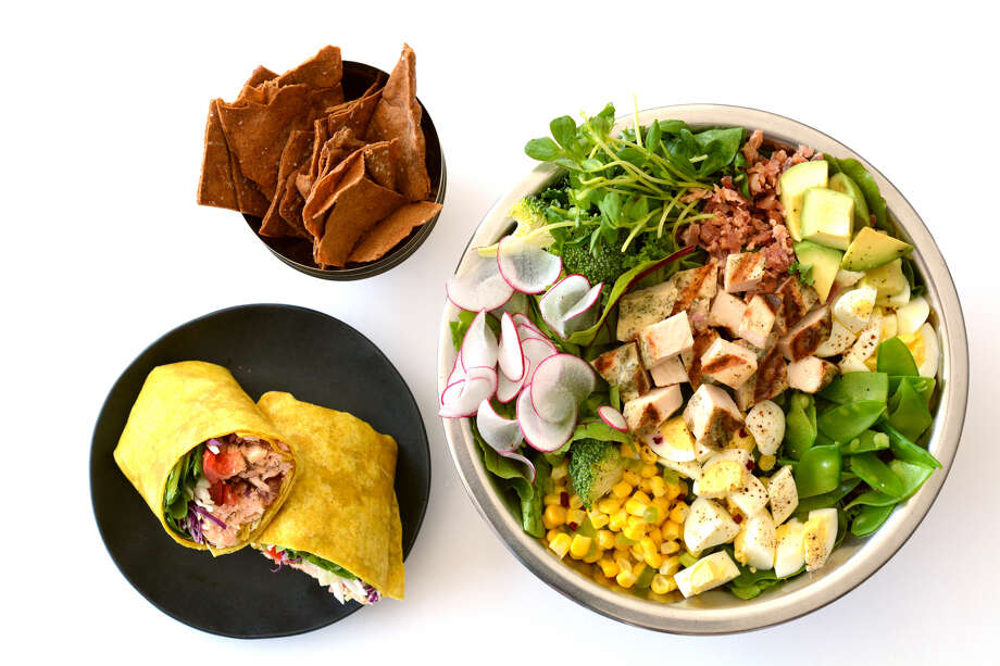 Salata serves customizable, tossed-to-order salads and wraps from a selection of more than 50 ingredients. Photo: Jeff Moore / Courtesy Of Salata
