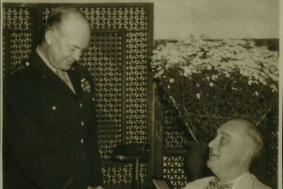 President Roosevelt presents General Dwight Eisenhower with the Legion of Merit Medal for his recent military service during WWII. These two men were famous and were presidents. Trump is a celebrity — there's a difference. Fame is generally built on accomplishment, celebrity on mastering the tools of self-exposure.