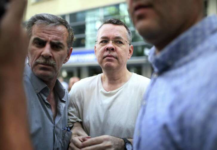 Andrew Craig Brunson, an evangelical pastor from Black Mountain, North Carolina, arrives at his house July 25 in Izmir, Turkey. Brunson, who had been jailed in Turkey for more than one-and-a-half years on terror and espionage charges was released and will be put under house arrest as his trial continues. He is essentially a hostage because Turkey wants the U.S. to extradite a cleric living here.