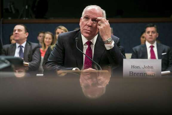 Former CIA Director John Brennan testifies at a House Intelligence Committee hearing in Washington on May 23, 2017. President Donald Trump on Aug. 15, 2018, revoked Brennan's security clearance, citing what he called Brennans erratic behavior. A reader says this is rich coming from this particular president.