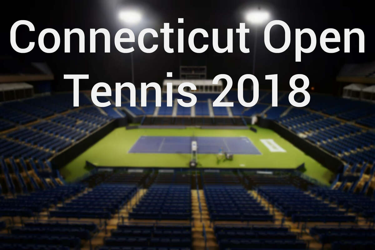 >> Click through the slideshow to see photos from the 2018 Connecticut Open Tennis tournament. Brandon Noel, of Connecticut Pavement Marking in Killingworth, paints Connecticut on the court at the Connecticut Tennis Center at Yale, Thursday, August 9, 2018.