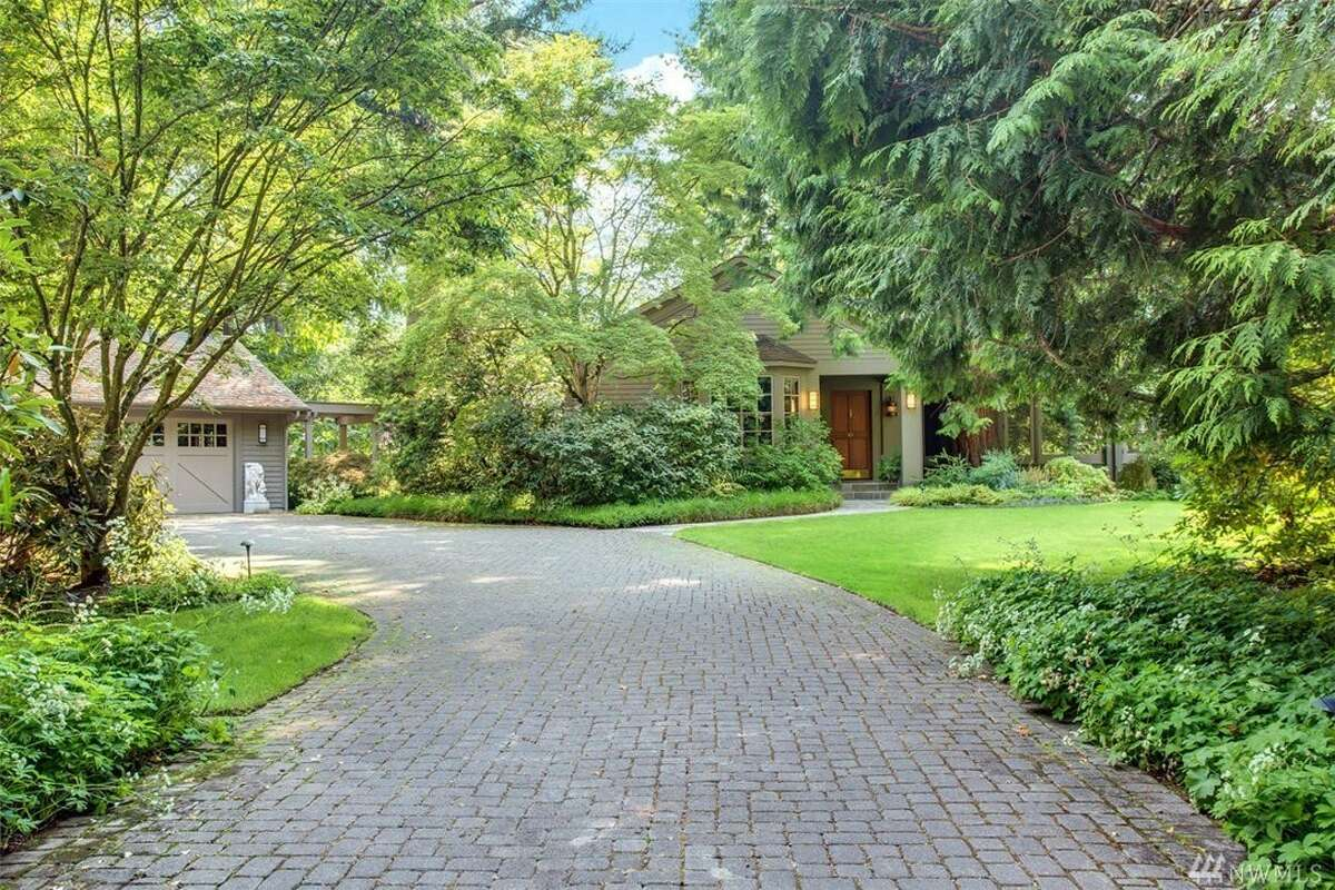 This Mercer Island mini-compound, a beautiful example of early NW Contemporary, asks $5M