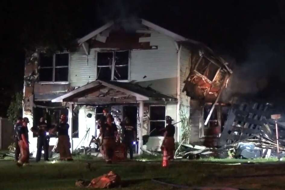 An elderly man was found dead near the front door of a Baytown home that became engulfed in flames Saturday morning. Baytown Police officers and firefighters found the 82-year-old man after being called to a home in the 1700 block of Missouri Street around 2:20 a.m., the police department said.