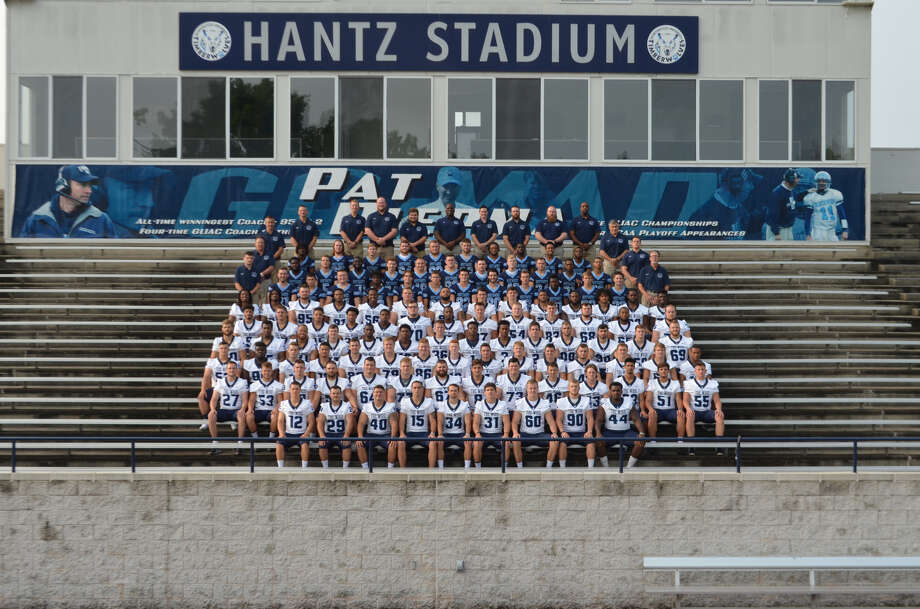 Northwood's football team poses for a group photo during Saturday's media day. Photo: Travis McCurdy/Northwood University