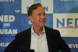 Ned Lamont meets with the media at his headquarters in New Haven on Wednesday, the day after winning the Democratic primary for governor over Bridgeport Mayor Joe Ganim.