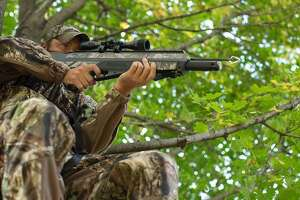 Arrow guns, which use compressed air to fire an arrow or crossbow-type bolt, would become legal to use when hunting some game animals under a proposal the Texas Parks and Wildlife Commission will consider this week.
