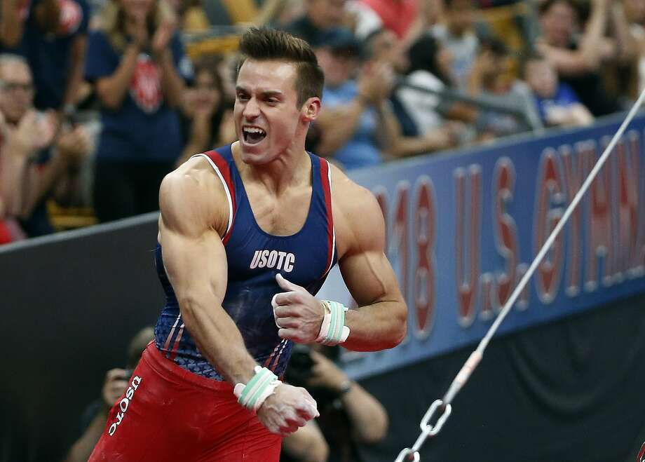Sam Mikulak has five U.S. gymnastics titles, third all-time. Photo: Elise Amendola / Associated Press