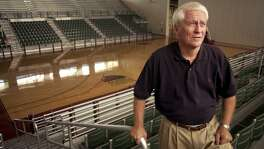 Bob Bass, executive vp of basketball operations in the main court at the New Orleans Hornets Basketball temporary practice facility at the Alario Center in Westwego. August, 27, 2002. STAFF PHOTO BY MATT ROSE