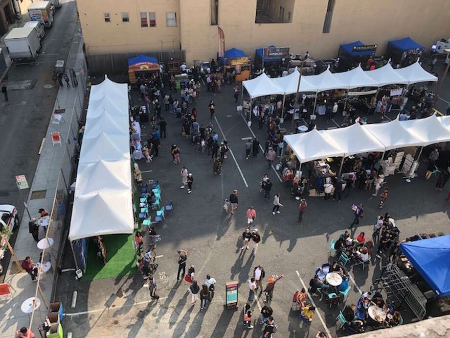 Views of Undiscovered SF's August night market. Photo: David Byers