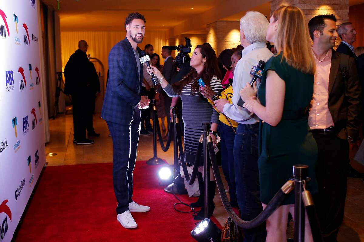 Klay Thompson at the red carpet for the Thompson Family Foundation at Hotel Vitale, Saturday, Aug. 18, 2018, in San Francisco, Calif.