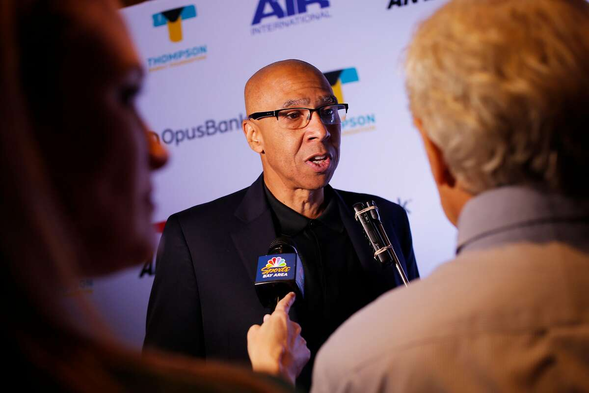 Mychal Thompson at the red carpet for the Thompson Family Foundation at Hotel Vitale, Saturday, Aug. 18, 2018, in San Francisco, Calif.
