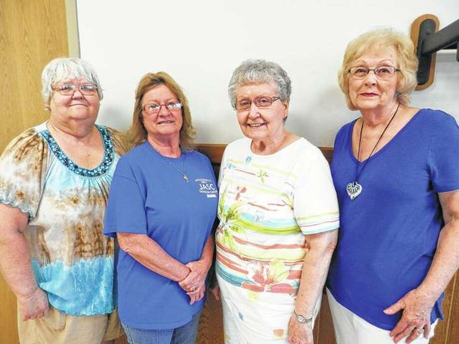 Members of the Jacksonville Area Senior Center recently elected new board officers to serve a one-year term. They are President Barb Becker (from left), Vice President Debbie Hinners, Secretary Marilyn Lawless and Treasurer Sue Spicer. Photo:       Photo Provided