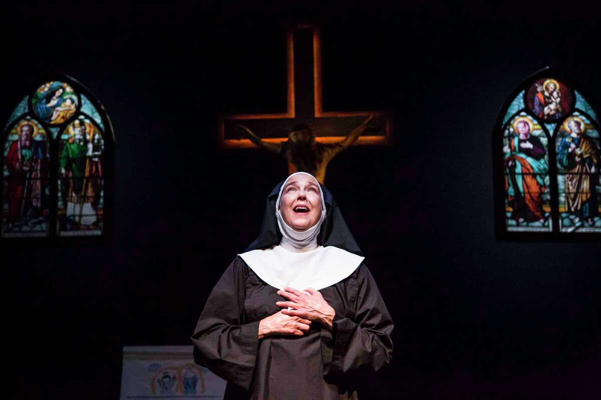 """Harriet Harris in""""Sister Mary Ignatius Explains It All for You,""""being presented with""""The Actor's Nightmare""""on Berkshire Theatre Group's Unicorn Stage through Aug. 31."""