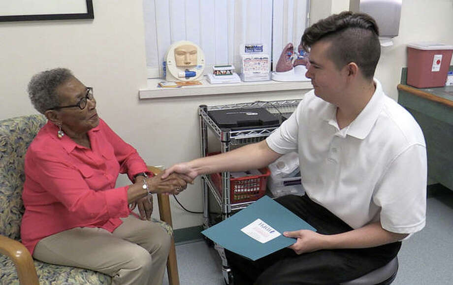 SIUE summer 2018 graduate Graeme Huntley made a positive impact on the East St. Louis community through a high quality internship at SIUE's WE CARE Clinic. Photo:       For The Telegraph