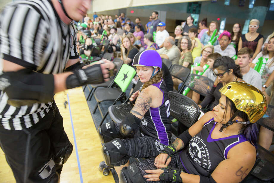 The Alamo City Roller Girls faced off against West Texas Roller Derby in front of a home crowd at Mission Concepción Sports Park. Photo: B. Kay Richter