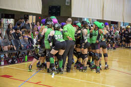 The Alamo City Roller Girls faced off against West Texas Roller Derby in front of a home crowd at Mission Concepción Sports Park.