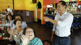 """I may well be in that race, and if I am, I'll come back and have more fajitas,"" former San Antonio Mayor Julián Castro told the crowd El Fogon restaurant on Saturday in Des Moines, Iowa."