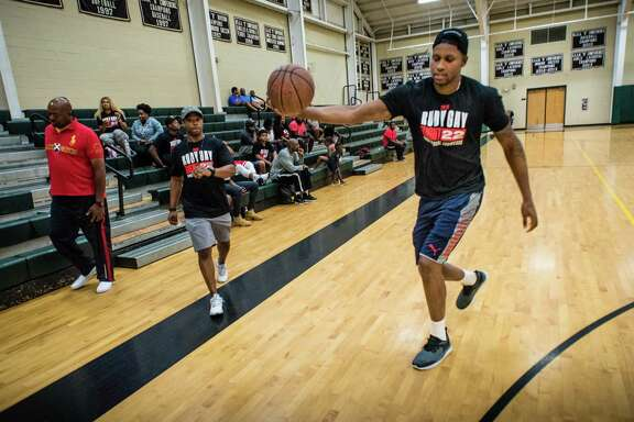 Spurs forward Rudy Gay returns to his hometown of Baltimore to host the Flight 22 Foundation tournament to showcase local youth. His Baltimore philanthropy includes refurbished playgrounds, gifts at Christmas and other charitable works.