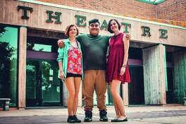 Meredith Fraga, left, of Friendswood, Issac Lopez of La Marque and Jordyn O'Banion of Kemah are majoring in theater at College of the Mainland in a rapidly growing program.