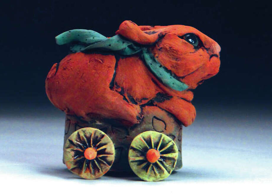 """This ceramic rabbit Susan Bostwick will be part of the """"Please Touch!"""" exhibit at the Edwardsville Children's Museum. Photo:       For The Intelligencer"""