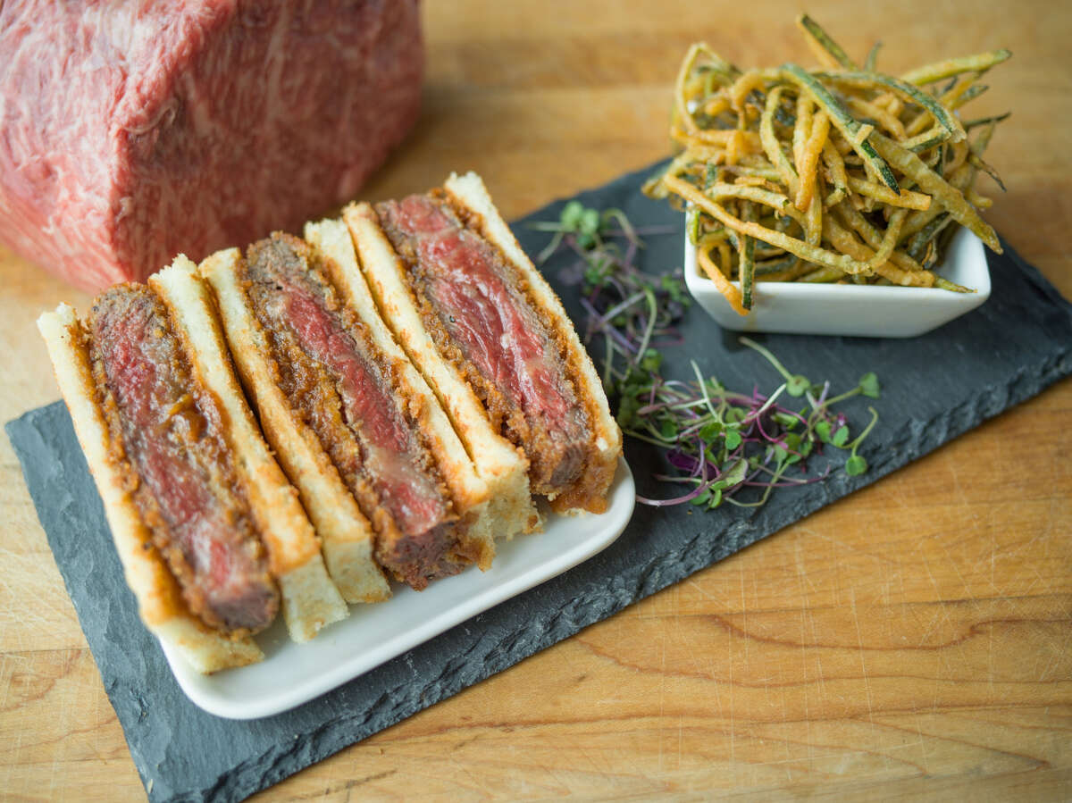 B&B Butchers & Restaurant is serving a $120 sandwich made from A5 Japanese wagyu. Called the Wagyu Katsu Sando, it is a rich indulgence.