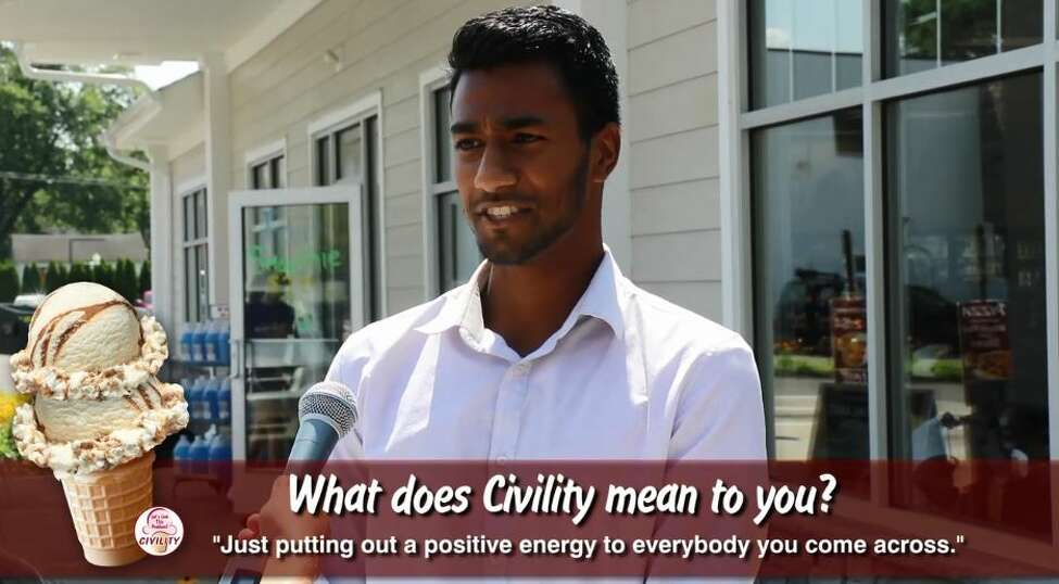Stewart's Shops interviewed customers and asked them what they think about what civility means as part of the launch of its new Civility ice cream this week. The chain says the promotion is part of a larger campaign to promote civility in society amid an increasingly combative tone in society. This is a screen shot from a video the company posted on social media.
