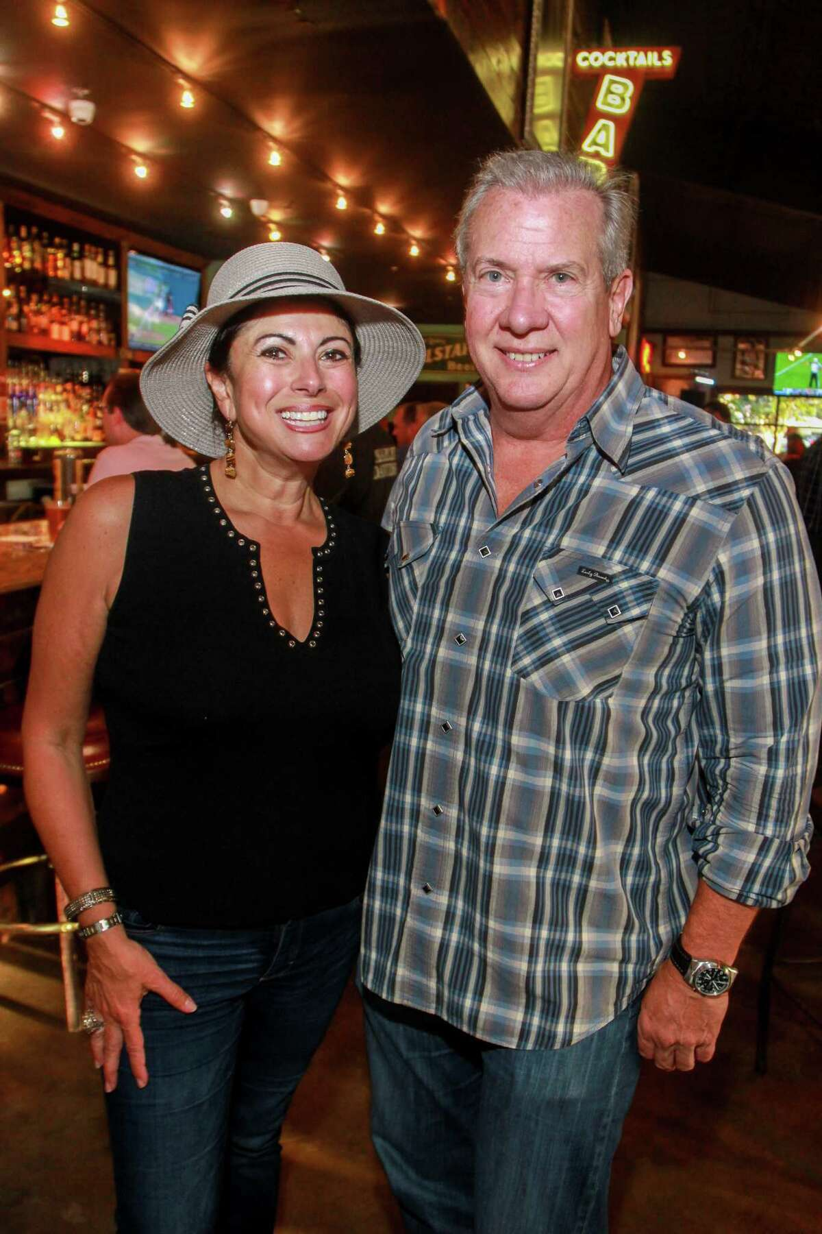 Co-chairs Christine and Steve Johnson at the A Place For Peanut event at the Kirby Ice House.