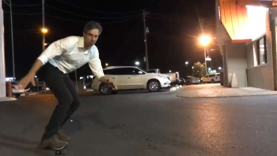 Texas races to watch Beto O'Rourke skating outside a Texas Whataburger on August 18, 2018. >>> See the closest races unfolding in Texas this election cycle. Photo: Beto O'Rourke