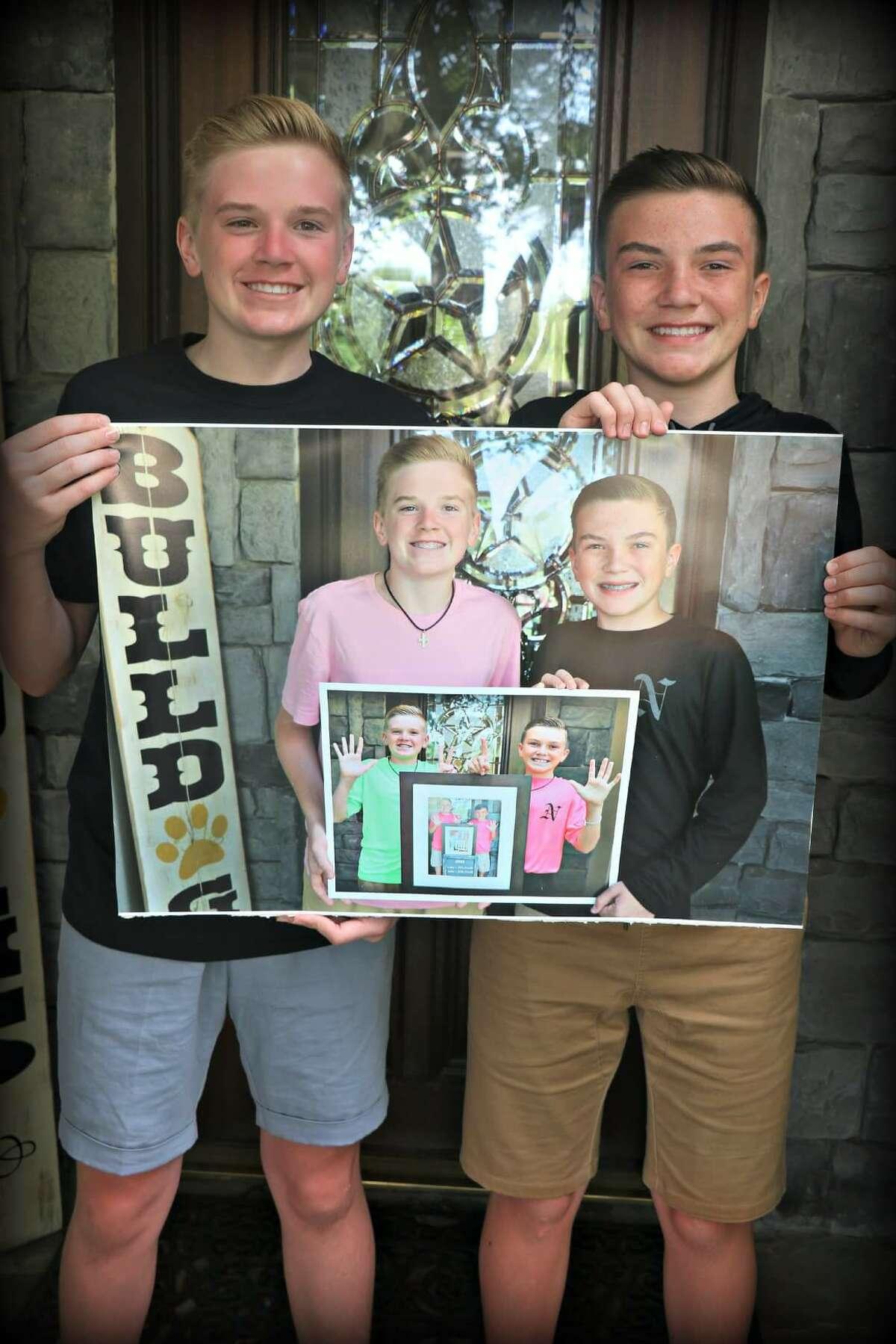 Jake and Luke Harrison - 9th and 8th grade, Nederland.