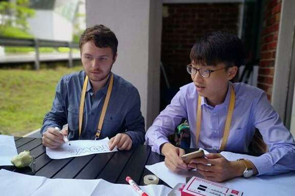 Dakota Stormer, health, safety, security and environmental advisor at Shell (left), and Goh Jing Yaw from Singapore attended UNLEASH in Singapore from May 30-June 6, 2018. The innovation lab brought together leaders from around the world and focused on creating energy solutions in sustainability.