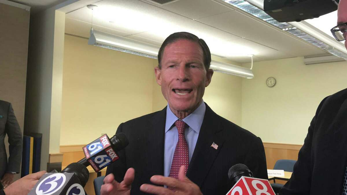 Sen. Richard Blumenthal attended a meeting in New Haven on Monday to discuss recent overdoses in the city.