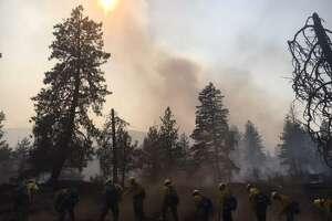 A view of the Boyds Fire near Kettle Falls, Washington.