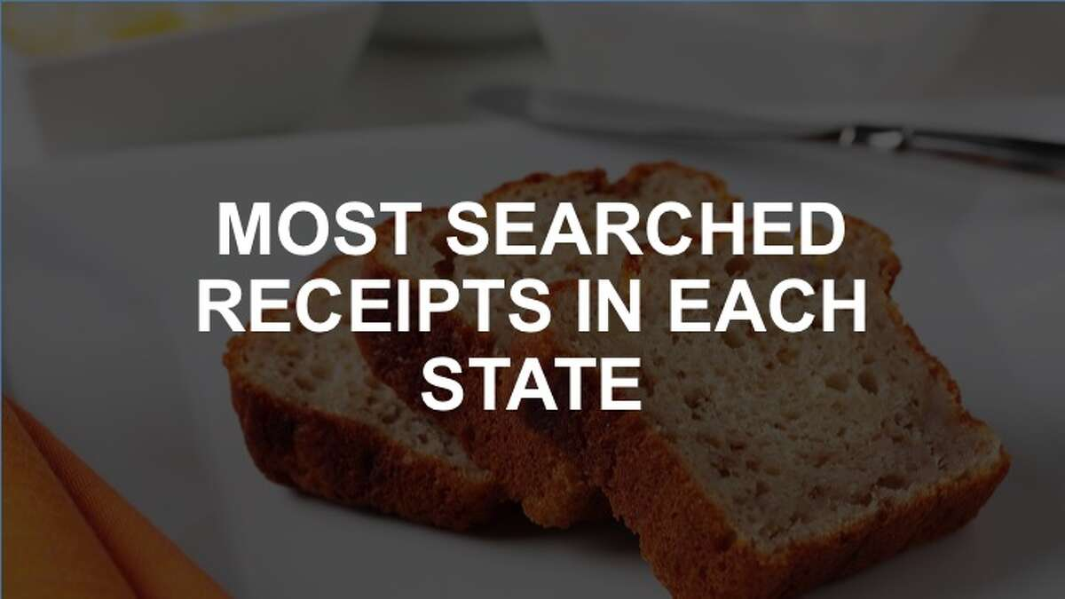 Click through the slideshow to see the most searched receipts in each state.
