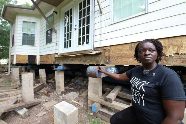 Rose Pickens is having her Rosenberg house elevated after experiencing flooding on Memorial Day 2016 and after Hurricane Harvey.