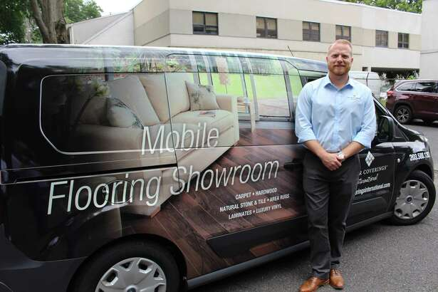 Fairfield resident Dylan O'Connor is looking to bring ease to home improvement with his mobil flooring business in Stamford.