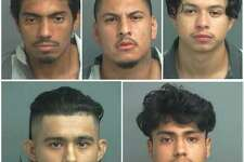 The Montgomery County Sheriff's Office arrested five males on a charge of theft from a construction site.