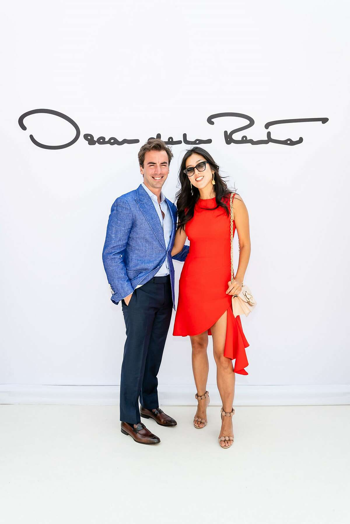 The Aug. 4 League to Save Lake Tahoe / Saks Fifth Avenue luncheon and fashion show drew�660 people�to the lakeside Schumacher Family estate and�raised more than $870,000. Oscar de la Renta Co-Creative Directors Laura Kim and Fernando Garcia (pictured) introduced the Resort 2019 collection with CEO Alex Bolen and his wife Eliza Bolen, Executive Vice President for the brand (pictured). The show featured 64 looks.