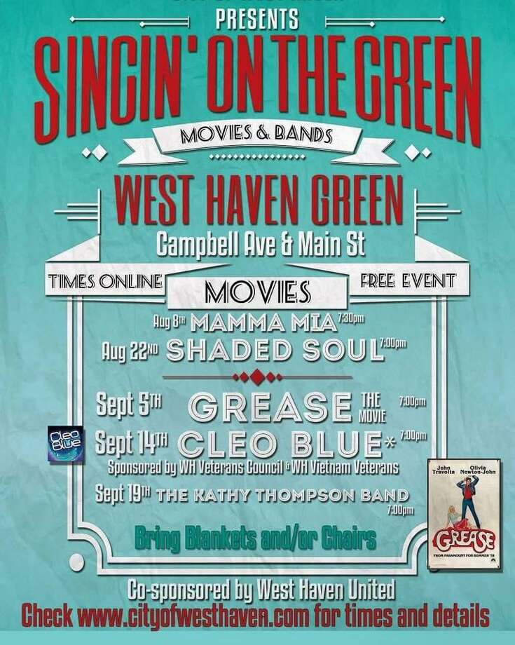 """West Haven has named two additional bands to perform on the Green as part of the end-of-summer """"Singin' on the Green: Movies & Bands"""" series. Shaded Soul will perform Wednesday, Aug. 22 at 7 p.m.The Kathy Thompson Band will perform on Wednesday, Sept. 19 at 7 p.m. Photo: Contributed Photo"""